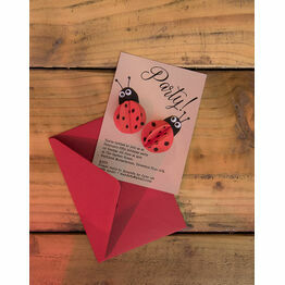 Handmade 3D Ladybird Printable Party Invitation