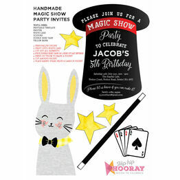 Handmade Magic Show Printable Party Invitation