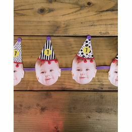 Handmade / Printable Party Hat Baby Photo Bunting