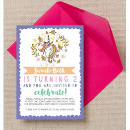Magic Unicorn Party Invitation