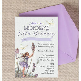 Vintage Flower Fairies Party Invitation