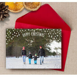 Falling Snow Photo Christmas Card