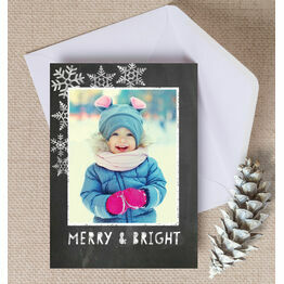 Merry & Bright Chalkboard Photo Christmas Card