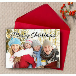 Calligraphy Photo Christmas Card