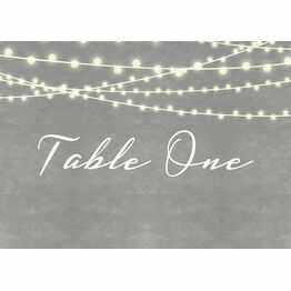 Dove Grey Fairy Lights Table Name