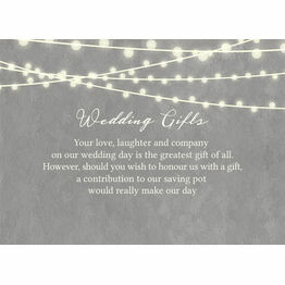 Dove Grey Fairy Lights Gift Wish Card