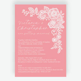 Floral Lace Wedding Invitation