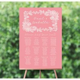 Floral Lace Wedding Seating Plan
