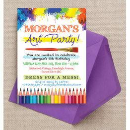 Art & Craft Themed Birthday Party Invitation