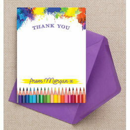 Art & Craft Themed Thank You Card