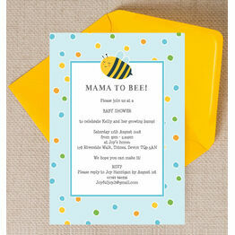 Bumble Bees Baby Shower Invitation - Blue