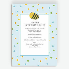 Bumble Bees Party Invitation - Blue