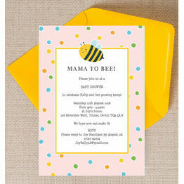 Bumble Bees Baby Shower Invitation - Pink