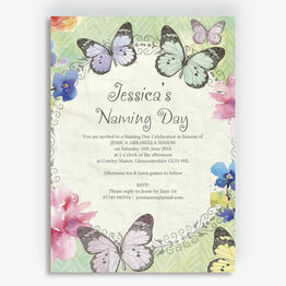 Butterfly Garden Naming Day Ceremony Invitation