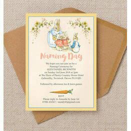 Flopsy Bunnies Naming Day Ceremony Invitation