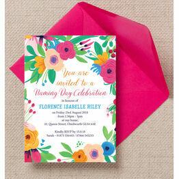 Floral Fiesta Naming Ceremony Day Invitation