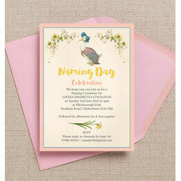 Jemima Puddle Duck Naming Day Ceremony Invitation