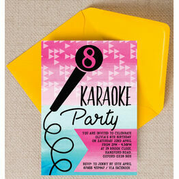 Karaoke Themed Birthday Party Invitation