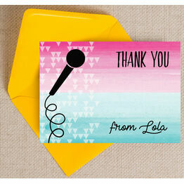 Karaoke Themed Thank You Card