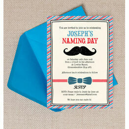 Little Man Naming Day Ceremony Invitation