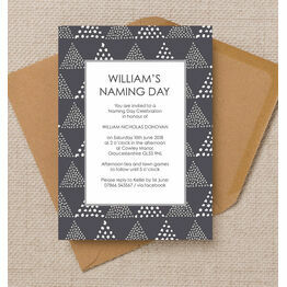 Geometric Naming Day Ceremony Invitation