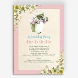 Mrs Tiggy Winkle Birthday Party Invitation