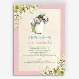 Mrs Tiggy Winkle Birthday Party Invitation