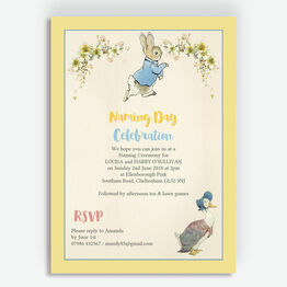 Peter & Jemima Naming Day Ceremony Invitation