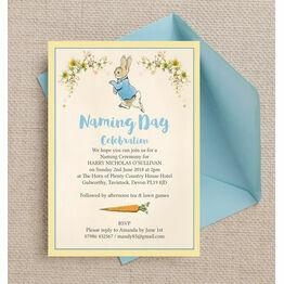 Peter Rabbit Naming Day Ceremony Invitation