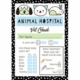 Pet Rescue Party Vet's Checklist - Blue