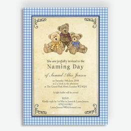Teddy Bears' Picnic Naming Day Ceremony Invitation