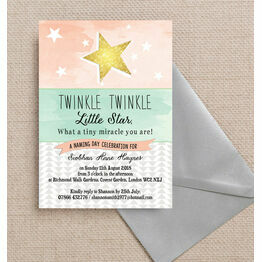 Twinkle Star Naming Ceremony Day Invitation