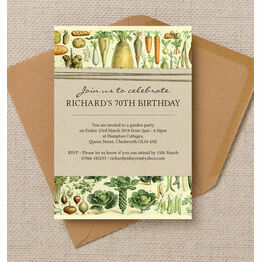 Gardening / Allotment Themed Birthday Party Invitation