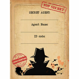 Spy Mission / Secret Agent Name Cards - Set of 9