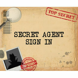 Spy Mission / Secret Agent Party Sign