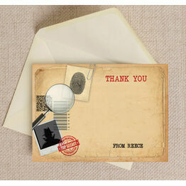 Spy Mission / Secret Agent Thank You Card