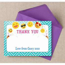 Emoji Themed Thank You Card