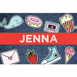 School's Out' Teen / Tween Name Cards - Set of 9