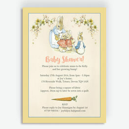 Flopsy Bunnies Beatrix Potter Baby Shower Invitation