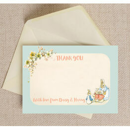 Flopsy Bunnies Beatrix Potter Thank You Card