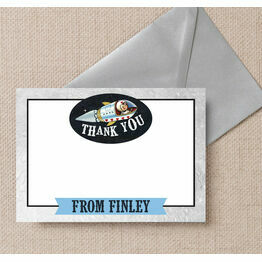 Spaceman / Rocket Thank You Card