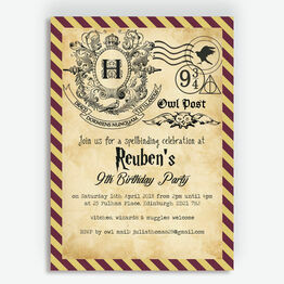 Witches & Wizards Birthday Party Invitation