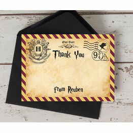 Witches & Wizards Thank You Card