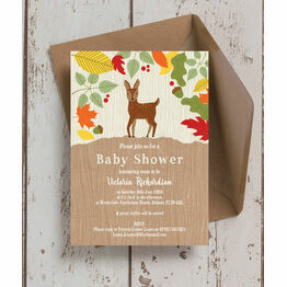 Woodland Animals Baby Shower Invitation