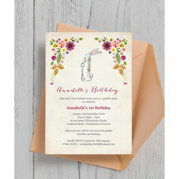 Velveteen Rabbit Birthday Party Invitation