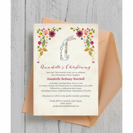 Velveteen Rabbit Christening / Baptism Invitation