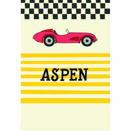 Racing Cars Name Cards - Set of 9