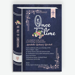 Storybook / Fairytale Christening / Baptism Invitation