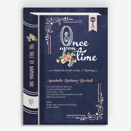 Storybook / Fairytale Naming Day Invitation