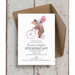 Circus Friends Birthday Party Invitation